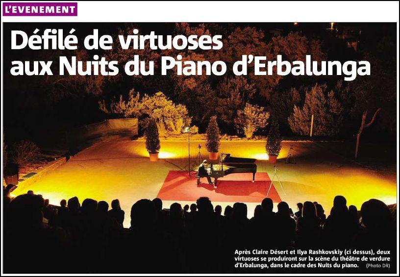 Corse-Matin du 31 juillet 2012
