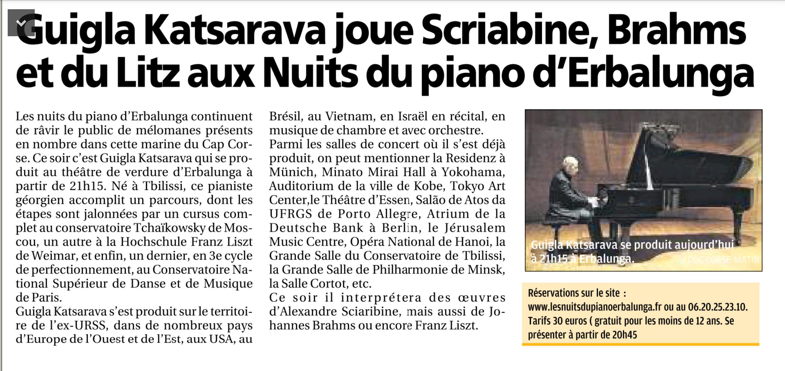 Corse-Matin du 04 août 2015