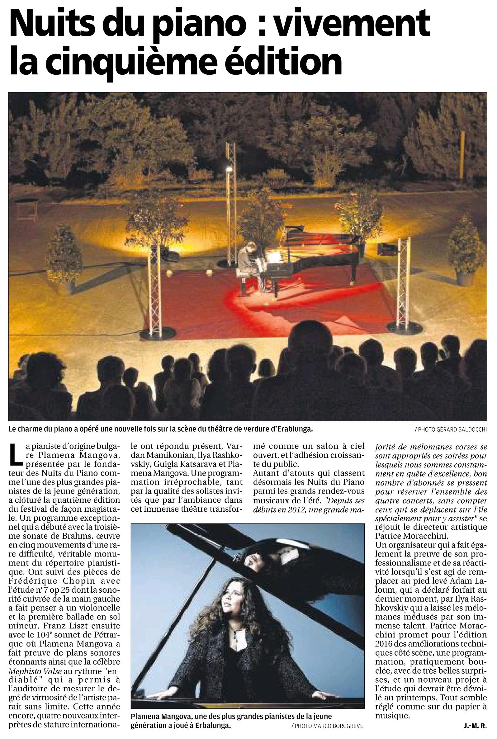 Corse-Matin du 16 août 2015