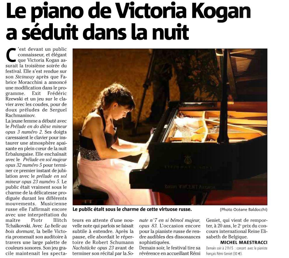 Corse-Matin du 1 août 2013